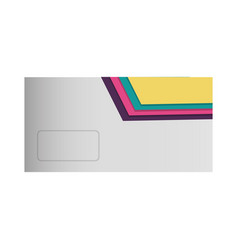 envelope with lines colored vector image