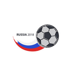 flag of russia and flying vector image