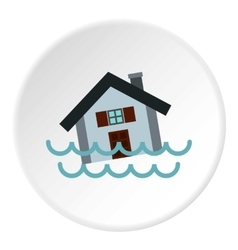 Flood icon flat style vector