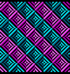 geometric color rhombus seamless pattern vector image