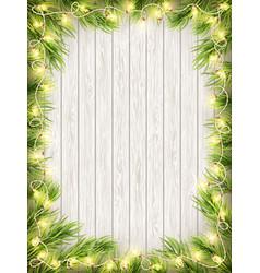 glowing warm christmas lights frame eps 10 vector image