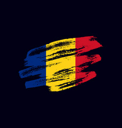 Grunge textured romanian flag vector