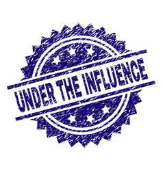 Grunge textured under influence stamp seal vector