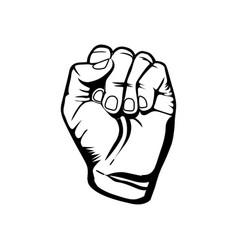 Hand breast cancer defense icon vector