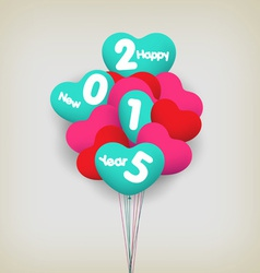 Happy new year with balloons vector