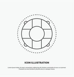Help life lifebuoy lifesaver preserver icon line vector