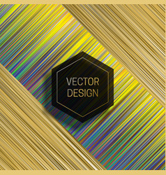 Hexagonal frame on dynamic colorful background vector