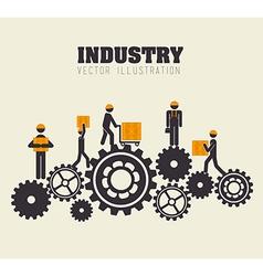 Industry design over beige background vector