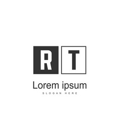 Initial rt logo template minimalist letter logo vector