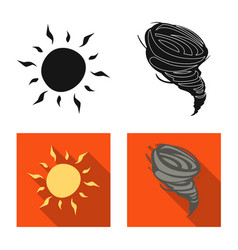 Isolated object of weather and climate symbol vector