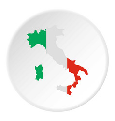 Italy map icon circle vector
