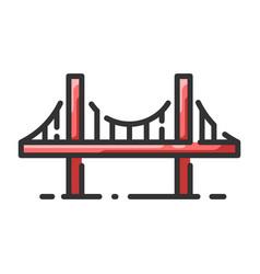 Landmark golden gate bridge vector