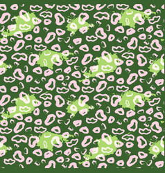 leopard pattern design green spots abstract vector image