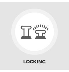 Lock car doors flat icon vector