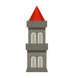 medieval battle tower icon isolated vector image