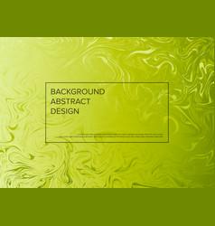 Modern art background template with fresh green vector