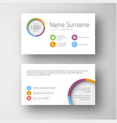 Modern white business card template with flat vector