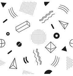 monochrome seamless abstract geomertic pattern vector image