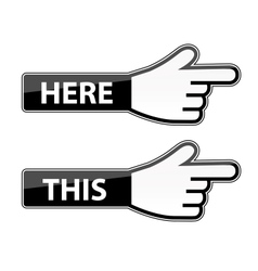 Mouse hand cursor this here pointer labels vector
