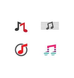 Music note logo vector