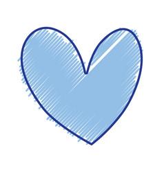 nice heart element icon design vector image