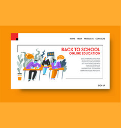 online education e-learning or internet course vector image