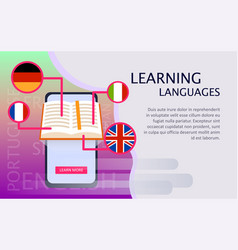 online learning of foreign languages vector image