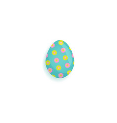 painted easter egg decorated with stars and dots vector image