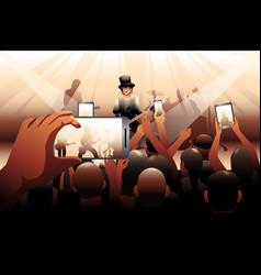 people in concert scene vector image