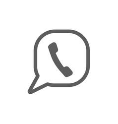 phone icon logo template phone icon logo template vector image