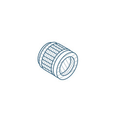 photo camera lens optical isometric icon 3d line vector image
