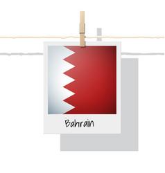 Photo of bahrain flag vector