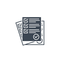 Questionnaire related glyph icon vector
