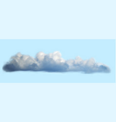 Realistic cloud over blue sky background vector