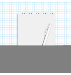 realistic spiral note book and pen vector image