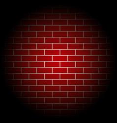 Red brick walls template design vector