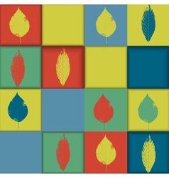Seamless geometric pattern with leaves vector image