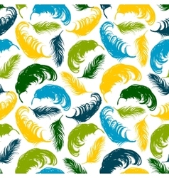 Seamless pattern with abstract feathers vector