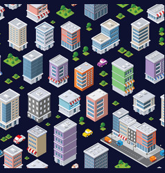 seamless repeating pattern city vector image