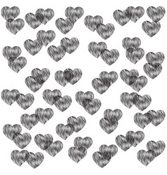 sensuality wallpaper with hearts vector image