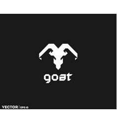 sharp goat logo vector image