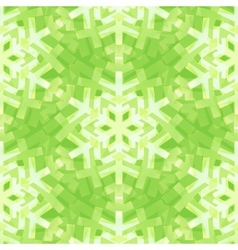 Shiny Green Snowflakes Seamless Pattern for vector image