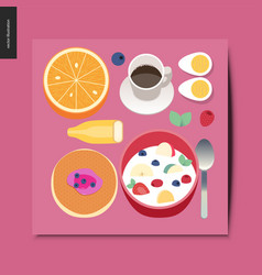 simple things - breakfast composition vector image