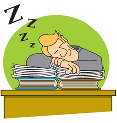 Sleeping on the job vector