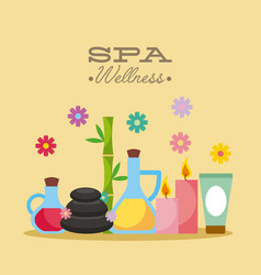 Spa utensils vector