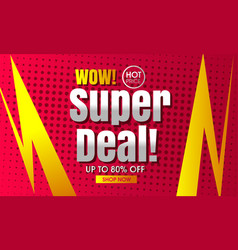 Super sale design template vector