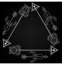 Tribal frame by arrows entangle design concept vector