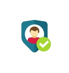 User authentication icon privacy emblem vector
