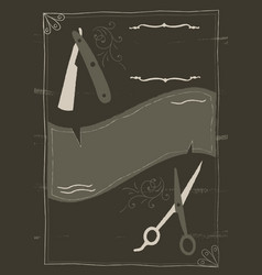 victorian gothic barbers style background and vector image