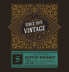 vintage labels for whiskey or other products vector image